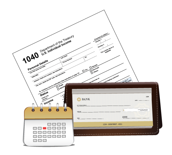 FinancialServices-Calendar-1040-Checkbook