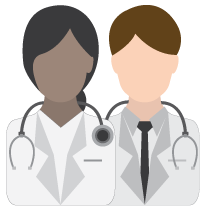 Multi-racial physicians - vector