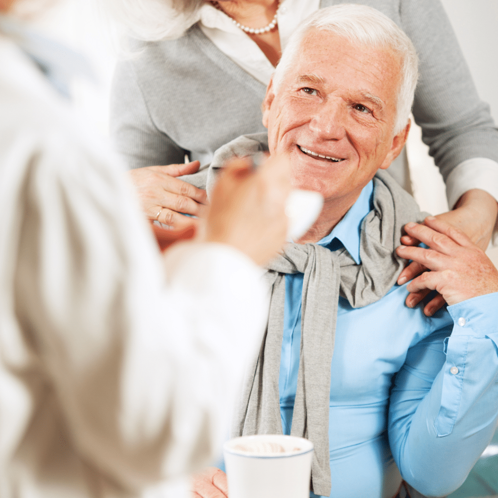 Elderly Man With Wife And Doctor