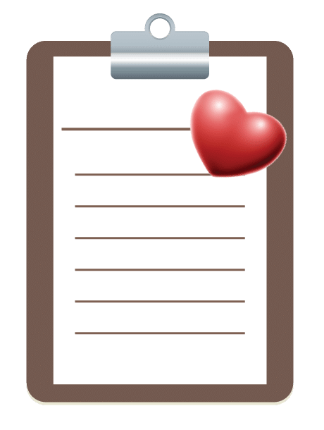 Clipboard Graphic with Heart - Health Care Advocacy